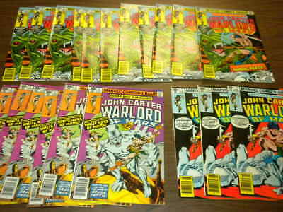 21 issues JOHN CARTER WARLORD OF MARS #2,3,4 Marvel 1977 dealer/investor lot ERB
