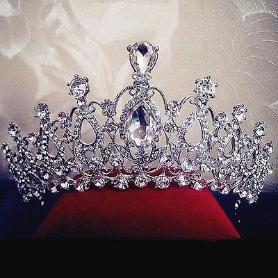 Charm Crystal Rhinestone Hair Headband Bridal Crown Tiaras Prom Pageant Wedding