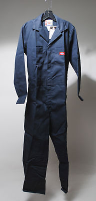 NWT Dickies Indigo Cotton Blend Long Sleeve Jumpsuit Size S 34/36