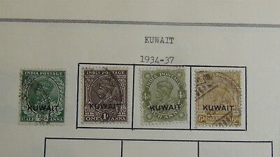 Kuwait stamp collection on Scott Int'l pages '34 - 2007 w/ 345 stamps