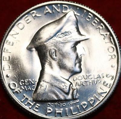 Uncirculated 1947 Philippines 1 Peso Silver Foreign Coin