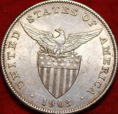 1903 Philippines 1 Peso Silver Foreign Coin