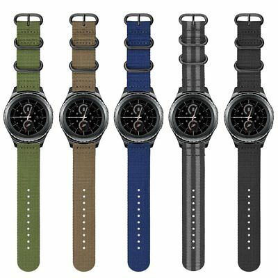 Soft Woven Nylon Watch Band Sport Strap For Samsung Gear Sport & Gear S2 Classic