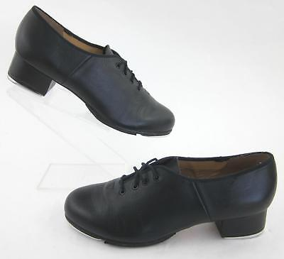 BLOCH Techno Tap Womens Tap Shoes Black Leather Sz 10.5 Worn Once!
