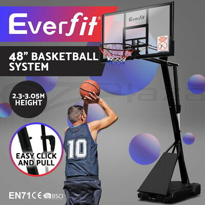 Everfit Pro Portable Basketball Stand System Hoop Height Adjustable Net Ring 305