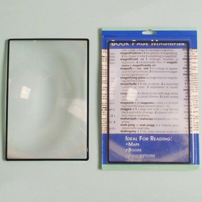 For A5 Flat PVC Magnifier Sheet X3 Book Page Magnifying Reading Glass Lens 2018
