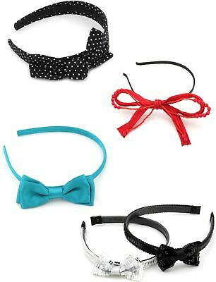 Zest 5 Mixed Alice Bands Hair Accessories with Bow