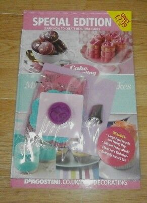 Cake Decorating magazine Special Edition + Large Petal Nozzle Piping Bag Stencil