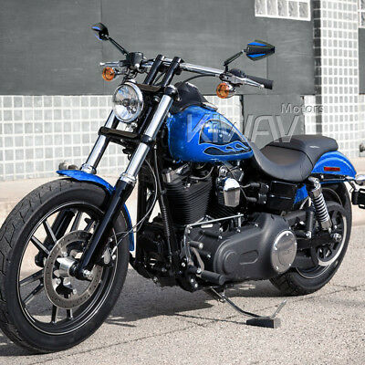 "awesome Achilles side mirror blue M10 & 5/16"" for Harley street bob special 2016"