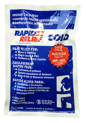 """Rapid Relief First Aid Instant Cold Therapy Pack 5"""" x 9"""" Pain Swelling Aches New"""