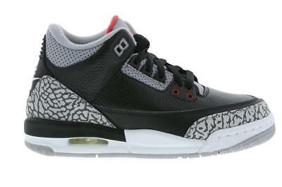 a7aa3962022 BNIB New Boys Infant Nike Air Jordan 3 Retro GS BG Black Cement Grey size  6.5
