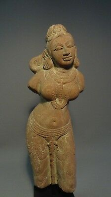 1024= A Large Stone Figure of a Standing Yakshi - India - ca: 1200A.D.