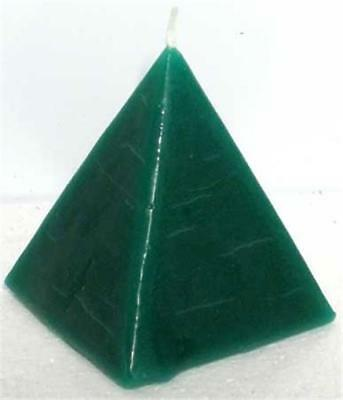 """Green """"DRAW MONEY"""" Pyramid Candle!"""