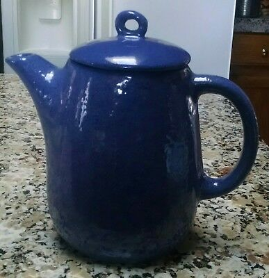 Bybee Pottery Periwinkle Blue Covered Water Tea Coffee Pitcher with Lid