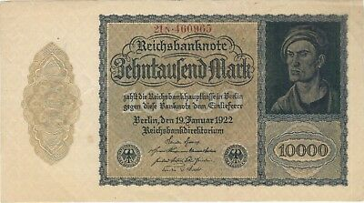 1922 10,000 Mark Germany Currency German Vampire Note Bill Banknote Money Cash