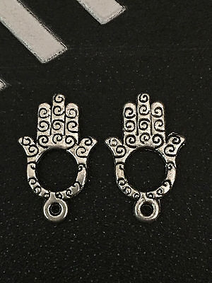 PJ271 /15pcs Tibetan Silver Charm Double-sided Hand Accessories Wholesale