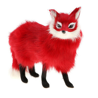 Realistic Fox Figures Animal Model Kids Educational Toy Home Decor