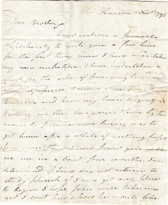 1798, Meltiah Green, letter to William Green, Took position as School Master