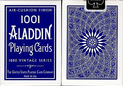 1001 Aladdin Dome Back Blue Playing Cards Poker Size Deck USPCC Air-Cushion New