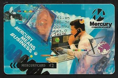 Mer453 Mercury Means Business Mint £2 Phonecard