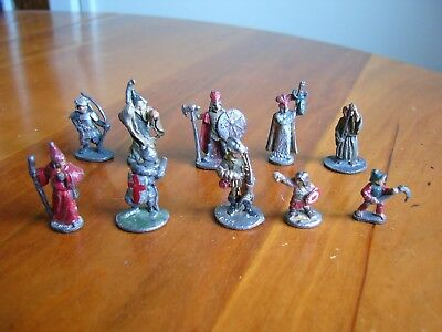 10 VINTAGE 1970s LEAD RAL PARTHA MINIATURE FIGURES - DUNGEONS AND DRAGONS?