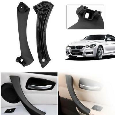 Right Inner Door Panel Handle Pull Trim Cover for BMW E90 3-Series Sedan Black