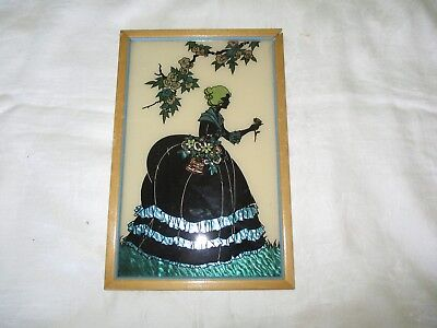 """Vintage Silhouette Picture """"Old Fashioned Garden"""""""