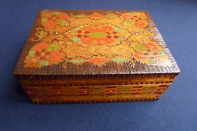 Vintage Poker and hand decorated box.