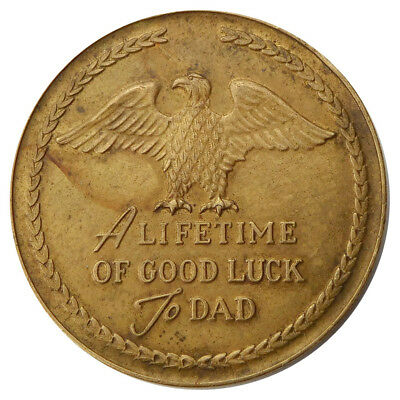 Vintage 1955 Hickok Father Of The Year Award Good Luck Dad Token