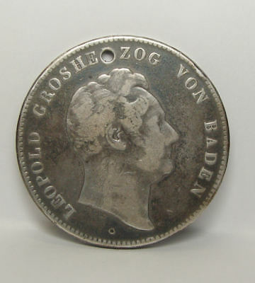 German States Karl Leopold 1845 PRUSSIA 2 Thaler .900 Silver Coin