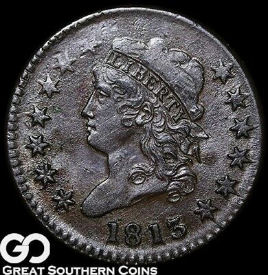 1813 Large Cent, Classic Head, RARE Choice AU++ Details, XF/AU Bid: $1500/$2600!
