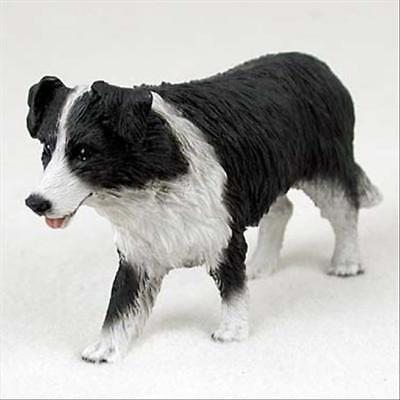 Border Collie Dog Hand Painted Canine Collectable Figurine Statue