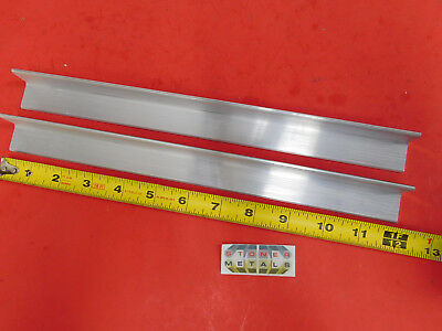 "2 Pieces 1"" x 1"" x 1/8"" ALUMINUM 6061 ANGLE BAR 12"" long T6 Mill Stock"