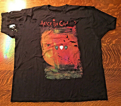 LOT4~ALICE IN CHAINS~JAR OF FLIES SHIRT~Wiliam Duval~Mike Inez~Jerry Cantrel~PIC