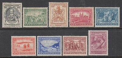 NEWFOUNDLAND 1933 Anniversary of Annexation to 15c mh (9) CV £56