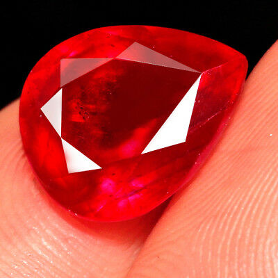 5.4CT Natural Mozambique Blood Red Ruby Faceted Cut QHB573