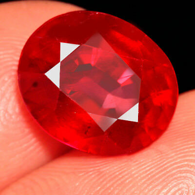 6.95CT Natural Mozambique Blood Red Ruby Faceted Cut QHBT512