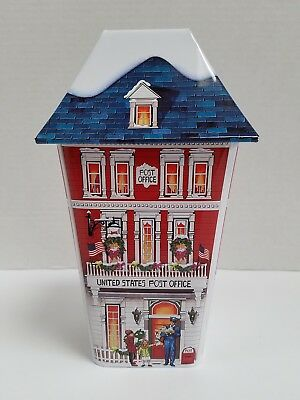 United States Post Office Collectible Holiday Tin - Empty