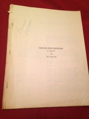 Goodnight Sweet Shakespeare VINTAGE 1930's Theater Script Owned Barbara Lawrence