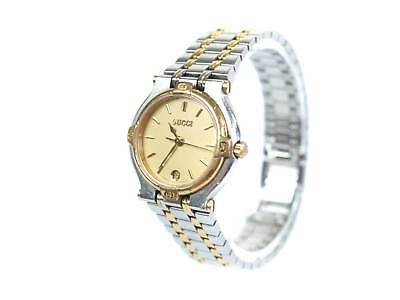 9f5b3aae7d1 Auth GUCCI 9000L Date Gold Plated Stainless Steel Ladies Watch GW2639L