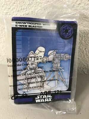 "WOTC Star Wars Miniatures Snowtrooper with E-Web Blaster 51/60* Rare 2006 ""K"""