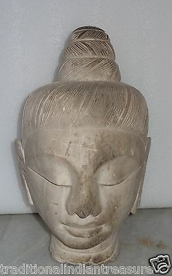 Very Nice White Marble Stone Statue Of Buddha Calm & Blessing Posture