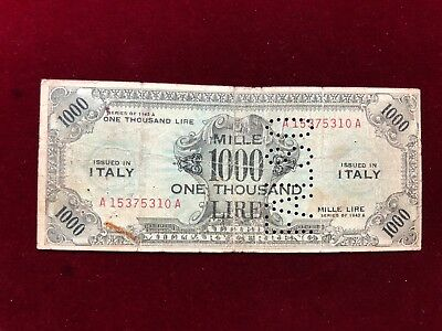 Occupazione Americana    FALSO  1000 am-lire 1943 BILINGUE FLC MB raro