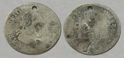 * Amazing !! * Dug - Colonial Silver Coin !!!