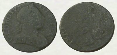 AUTHENTIC * DUG - Revolutionary War Coin - King Geo III COLONIAL COPPER