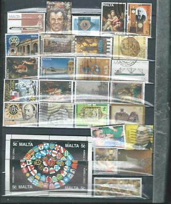 Malta lot 1 nice selection of used Commemorative stamps good  range. [674]