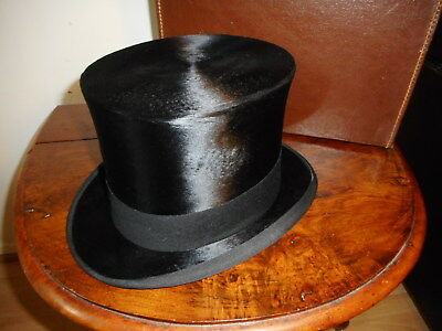 Vintage Lock & Co Top Hat Size 7 Fitted Case