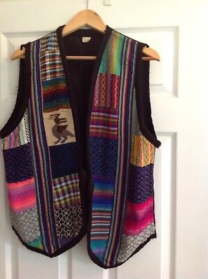 Spanish / South American multicoloured waistcoat size M-L unisex