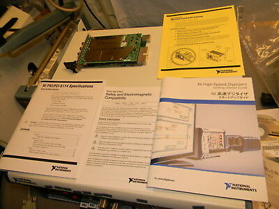 National Instruments PXI-5114 8 Bit 250 MS/S Digitizer P/N192897F-01 W Manuals