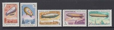 Russia 1991 Zeppelin, Hot Air balloons mint unhinged set 5  stamps.